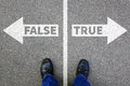 False true truth fake news lie lying facts decision decide Royalty Free Stock Photo