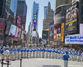 Falun Gong band performs in Times Square Royalty Free Stock Image