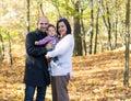 Família do outono Foto de Stock