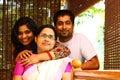 Família indiana nova - matriz, filha e filho Fotos de Stock