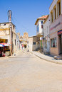 Famagusta nothern cyprus august street sinan pasa sokak on august in turkish republic in august city was occupied by Royalty Free Stock Photo