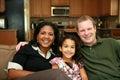 Familia interracial Fotografía de archivo libre de regalías