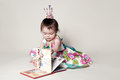 Familiarity with the book little princess is interested in a girl fun Stock Photo
