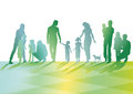 Familienillustration Stockbild