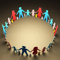 Families circle happy forming a of unity Royalty Free Stock Photos