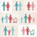 Families different types of including gay and lesbian lgbt with children Royalty Free Stock Photos