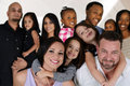 Families group of different together of all races Royalty Free Stock Photography