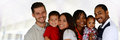 Families group of different together of all races Royalty Free Stock Photo