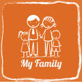 Familiy design Stock Image