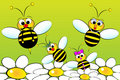 Famille d'abeilles - illustration de gosses Photos stock