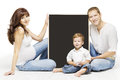 Family Advertising Blank Copyspace Board, Parents Education Royalty Free Stock Photo