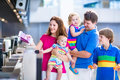 Family at the airport Royalty Free Stock Photo