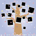 Family album on tree with photos Royalty Free Stock Image