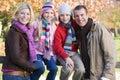 Family on autumn walk Stock Image