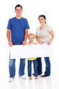 Family with banner Royalty Free Stock Photos