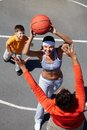 Family basketball Royalty Free Stock Images