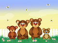 Family of bears Royalty Free Stock Photo
