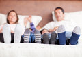 Family in bed Royalty Free Stock Photography