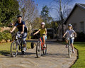 Family Bicycle Ride Royalty Free Stock Images