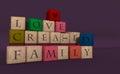 Family block. Royalty Free Stock Photo