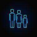 Family blue icon