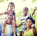 Family bonding happiness togetherness park concepts Stock Image