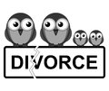Family break up representation of divorce or isolated on white background Stock Images