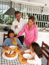 Family breakfast. Royalty Free Stock Photo