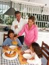 Family breakfast. Royalty Free Stock Photo