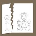 Family Breakup Royalty Free Stock Photo
