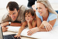 Family browsing the internet Royalty Free Stock Images