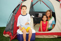 Family Camping Royalty Free Stock Image