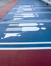 Family car park markings perspective empty families Stock Image