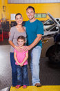 Family car service happy inside center Stock Photography