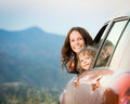 Family car trip Royalty Free Stock Photo
