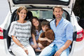 Family on car trip Royalty Free Stock Photo