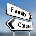 Family or career. Royalty Free Stock Photography
