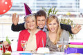 image photo : Family celebrating birthday