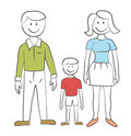 Family - Child's drawing Stock Photography