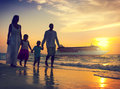 Family Children Beach Cruise Ship Relaxation Concept Royalty Free Stock Photo