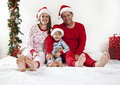 Family on Christmas Royalty Free Stock Photo