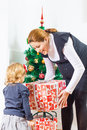 Family Christmas Moments Royalty Free Stock Photos