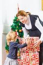 Family Christmas Moments Royalty Free Stock Photo