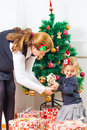 Family Christmas Moments Stock Photography
