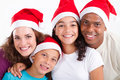 Family Christmas portrait Royalty Free Stock Photography