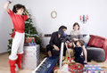 Family christmas time Royalty Free Stock Photography