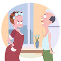 Family conflict cartoon Royalty Free Stock Photo