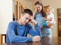 Family conflict at home Royalty Free Stock Photo