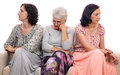 Family conflict sad women Royalty Free Stock Image