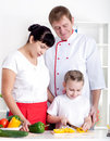 Family cooking together Royalty Free Stock Image